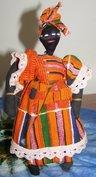 Female Orange Dress (ca. 20 cm hoog)